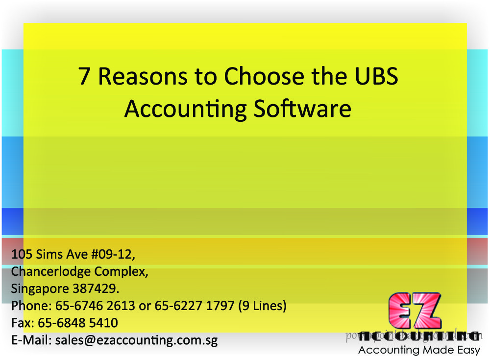 7 Reasons to Choose the UBS Accounting Software