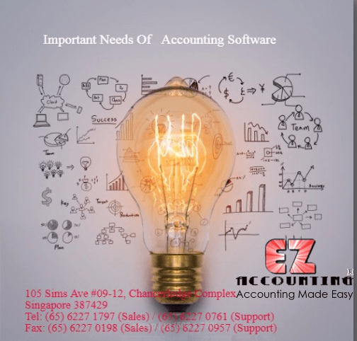 Important needs of accounting software