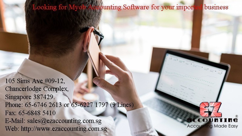 Looking For Myob Accounting Software for your imported business