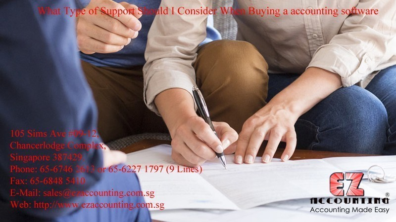 What Type of Support Should I Consider When Buying a accounting software